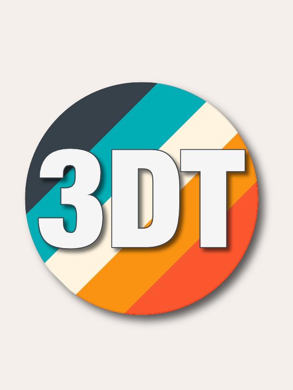 3D Textures dot me Logo